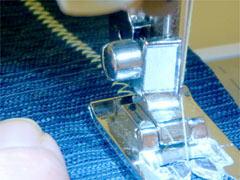 ミシンを縫う