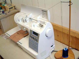 工業用のミシン糸を家庭用ミシンで使う